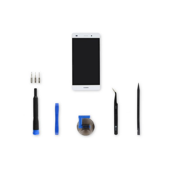 Huawei P8 Lite LCD Screen and Digitizer Assembly / White / Fix Kit