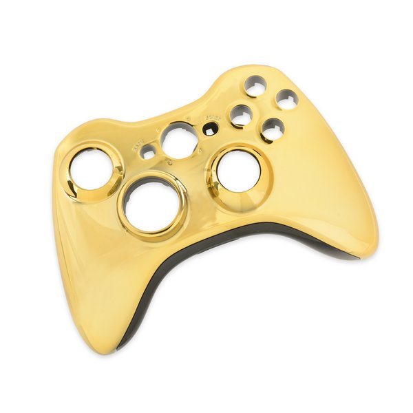 Xbox 360 Wireless Controller Front Panel (Transforming D-Pad) / Gold / A-Stock
