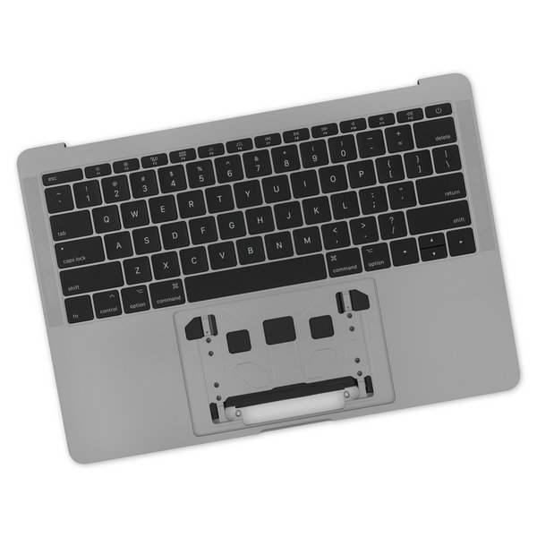 "MacBook Pro 13"" Retina (Function Keys, Late 2016-2017) Upper Case Assembly / A-Stock / Dark Gray / With Battery / No Trackpad"