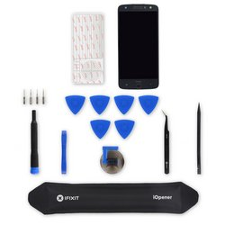 Moto Z Force Droid Screen and Digitizer Assembly / Black / Fix Kit