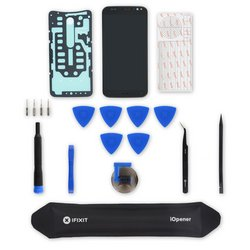 Moto X Pure Edition LCD Screen and Digitizer Assembly / Black / Fix Kit