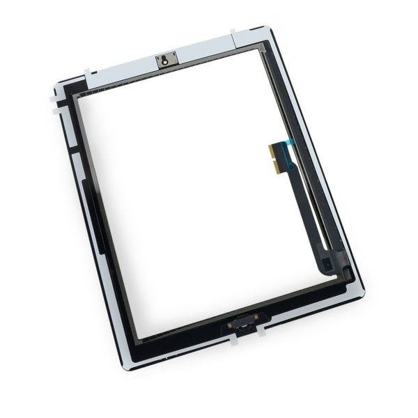 iPad 3 Front Glass/Digitizer Touch Panel Full Assembly / New / Part Only / Black