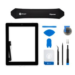 iPad 3 Screen Digitizer Assembly / New / Fix Kit / Black