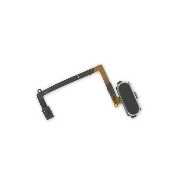 Galaxy S6 Home Button and Cable Assembly / Black / New