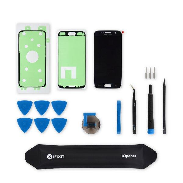 Galaxy S7 Screen / Black / Fix Kit v.2