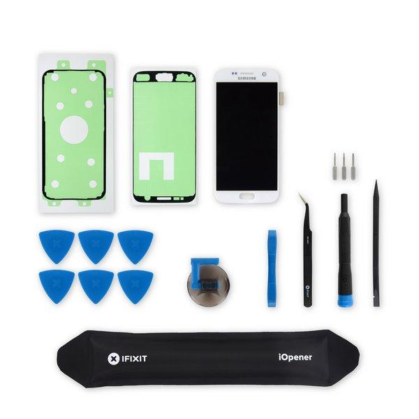 Galaxy S7 Screen / White / Fix Kit v.2