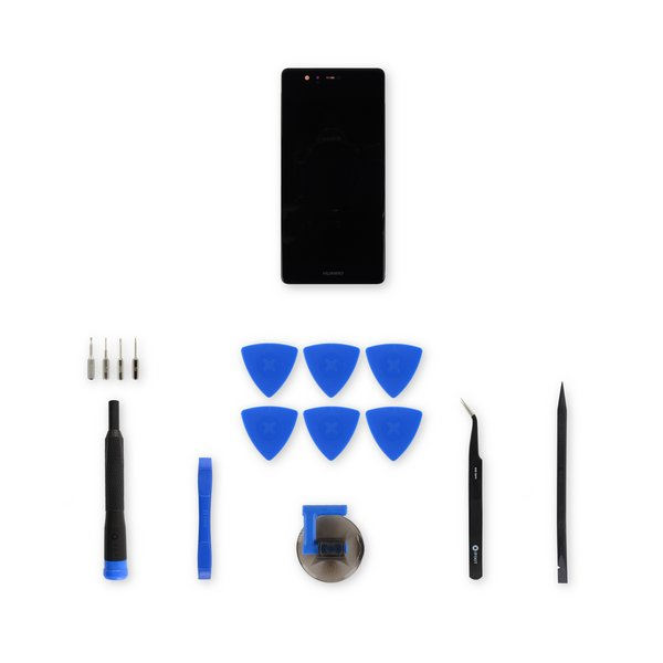 Huawei P9 LCD Screen and Digitizer Assembly / Black / Fix Kit
