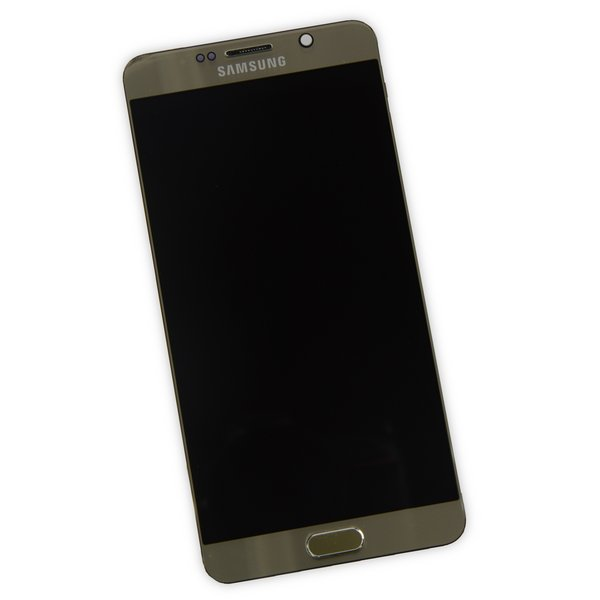 Galaxy Note5 LCD Screen and Digitizer Assembly (T-Mobile) / Gold / A-Stock