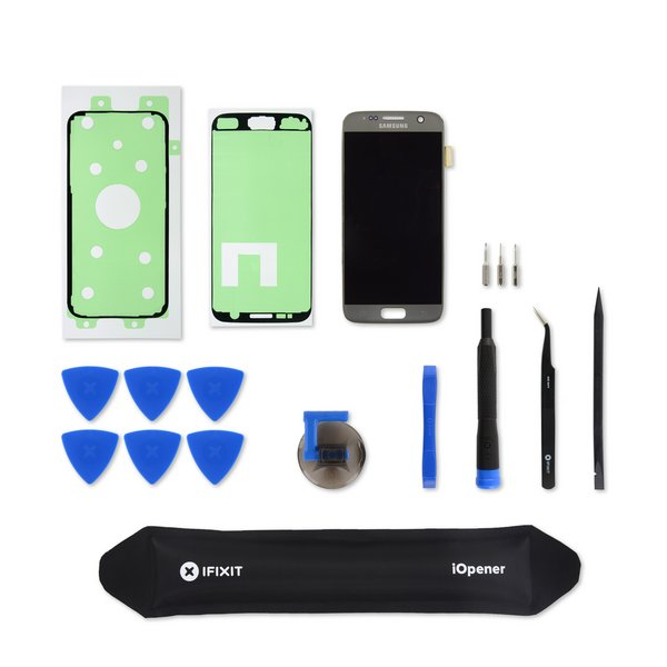 Galaxy S7 Screen and Digitizer / Silver / Fix Kit