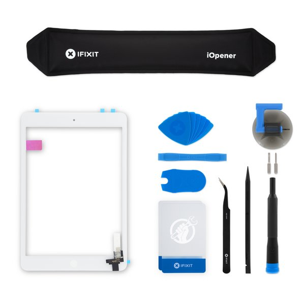 iPad mini 1/2 Screen Digitizer / New / Fix Kit / White