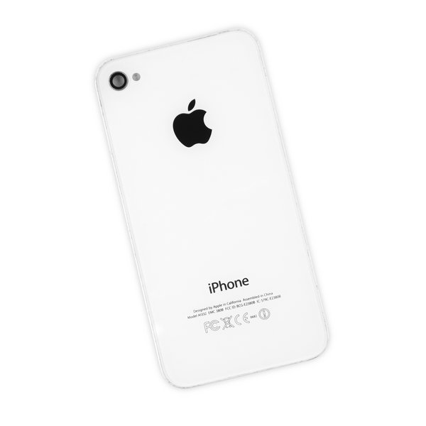 iPhone 4 GSM OEM Used Rear Glass Panel / White / B-Stock
