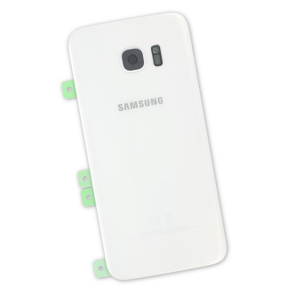 Galaxy S7 Edge Rear Glass Panel / White