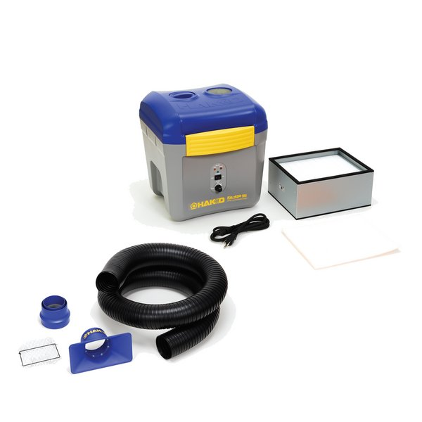 Fume Extraction System Hakko FA430 / Complete with Square Nozzle Duct Kit