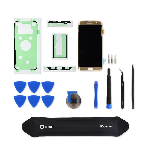 Galaxy S7 Edge Screen and Digitizer / Gold / Fix Kit