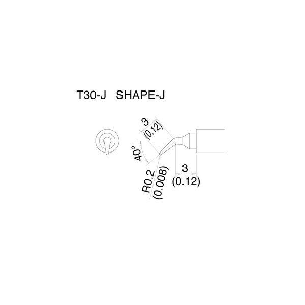 T30 Series tips fit Hakko FM-2032 Soldering Iron / T30-J / Tiny Curved Tip