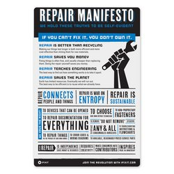Self-Repair Manifesto Sticker