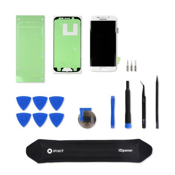 Galaxy S6 Edge Screen / White / New / Fix Kit v.1