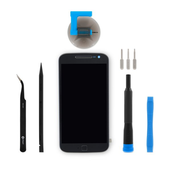 Moto G4 Plus Screen / Black / Fix Kit v2