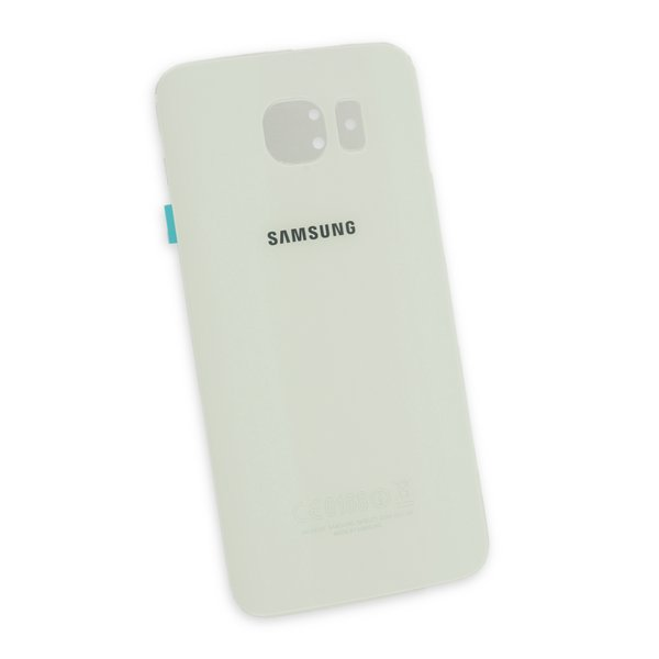 Galaxy S6 Rear Glass Panel/Cover - Original / White / Part Only