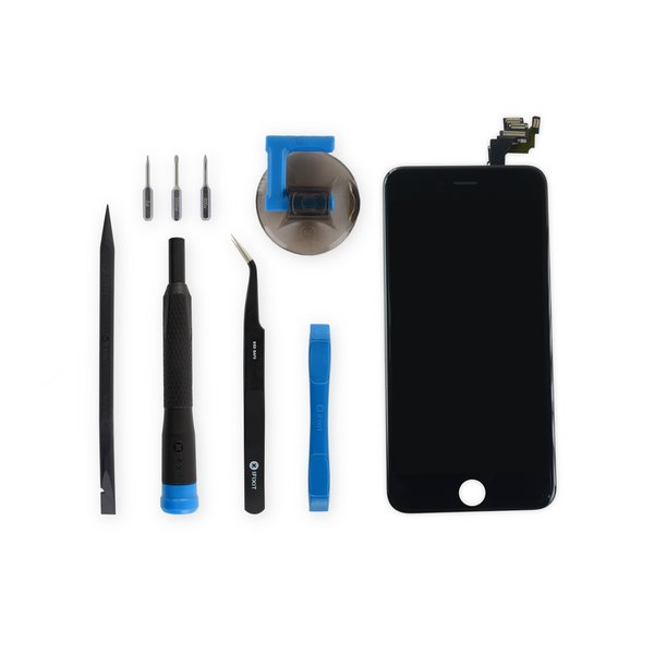 iPhone 6 Plus LCD Screen and Digitizer Full Assembly / New / Fix Kit / Black