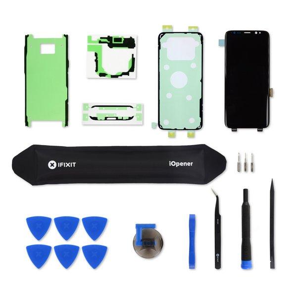 Galaxy S8 Screen / Black / Fix Kit