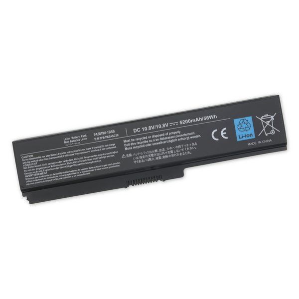 Toshiba Satellite L300, M300, and M800 Series Replacement Laptop Battery / Standard Capacity