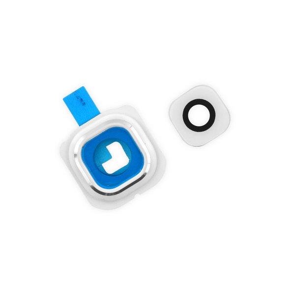 Galaxy S6 Edge Rear Camera Bezel & Lens Cover / New / White