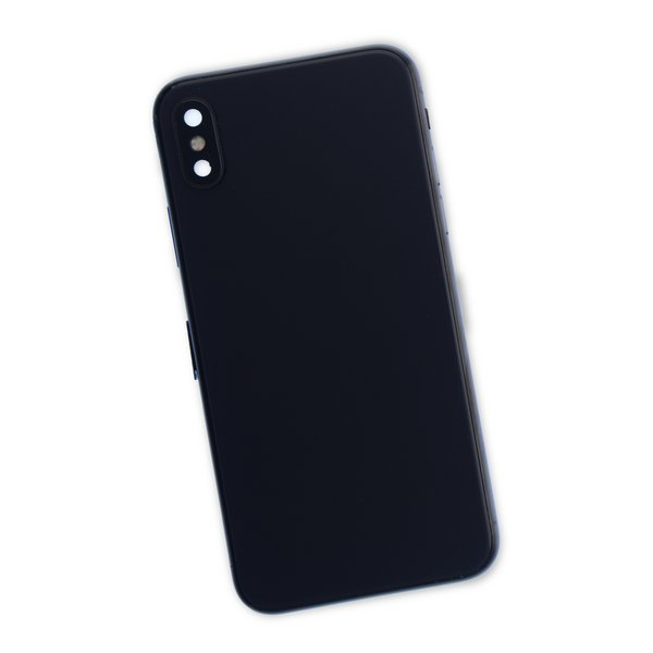 iPhone X Aftermarket Blank Rear Case / Black