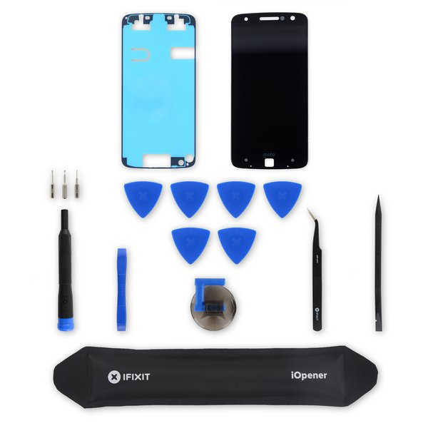 Moto Z Droid Screen and Digitizer / Black / Fix Kit