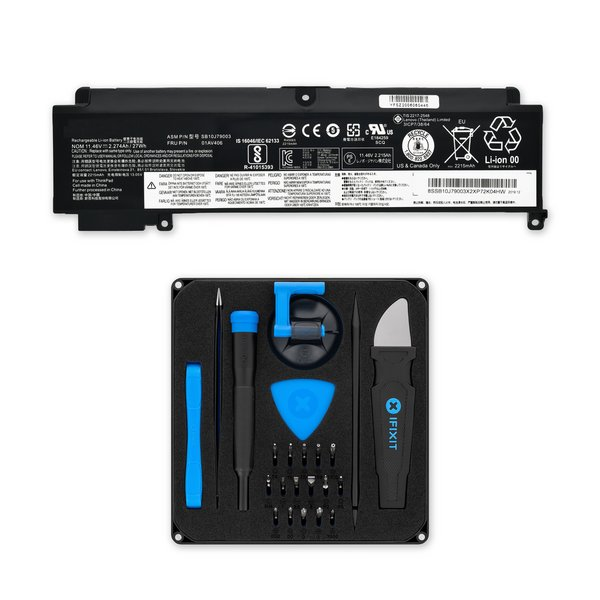 Lenovo T460s Rear Replacement Battery / Fix Kit