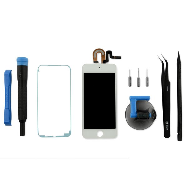 iPod Touch (6th Gen) LCD Screen and Digitizer / Fix Kit / White