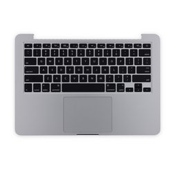 "MacBook Pro 13"" Retina (Late 2012-Early 2013) Upper Case Assembly / With Trackpad and Battery / Used"