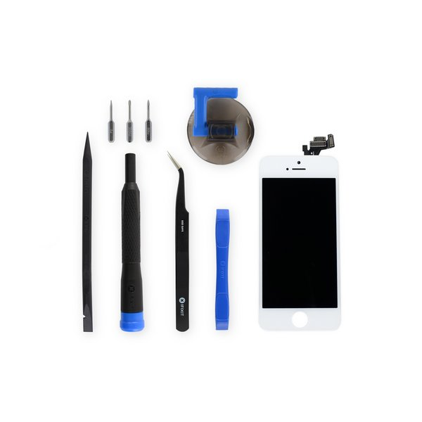 iPhone 5s LCD Screen and Digitizer Full Assembly / New / Fix Kit / White