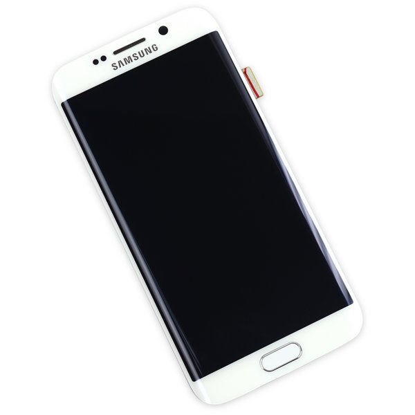 Galaxy S6 Edge LCD Screen and Digitizer Assembly (GSM) / White / New