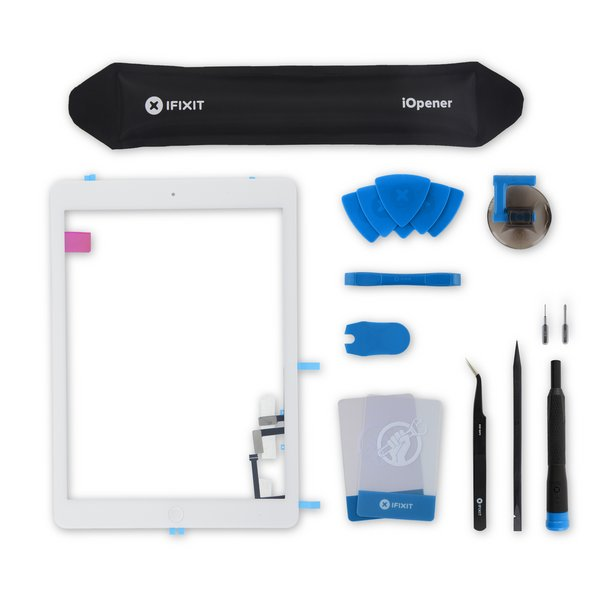 iPad Air Screen Digitizer / Fix Kit / White