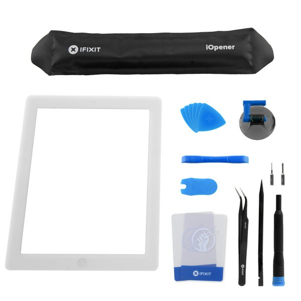 iPad 3 Front Glass/Digitizer Touch Panel Full Assembly / All-New / Fix Kit / White