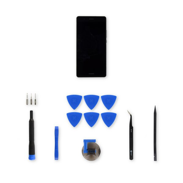 Huawei P9 Lite LCD Screen and Digitizer Assembly / Black / Fix Kit
