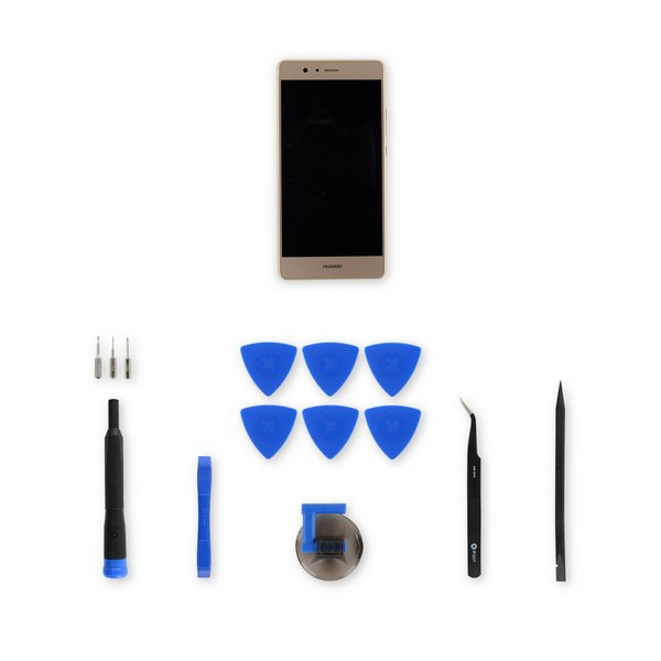 Huawei P9 Lite LCD Screen and Digitizer Assembly / Gold / Fix Kit