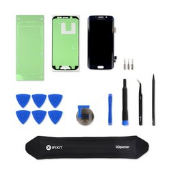 Galaxy S6 Edge Screen / Black / New / Fix Kit