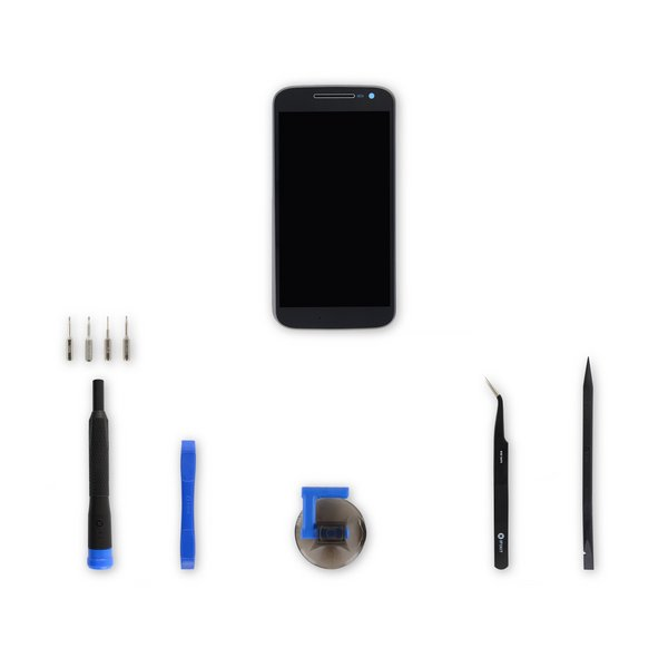 Moto G4 Screen / Black / Fix Kit
