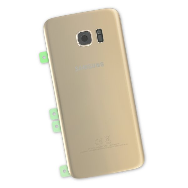 Galaxy S7 Edge Rear Glass Panel / Gold