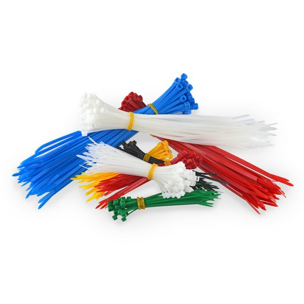 Zip Ties / 4 / 6 / 8 inch / 650 / Assorted Colors