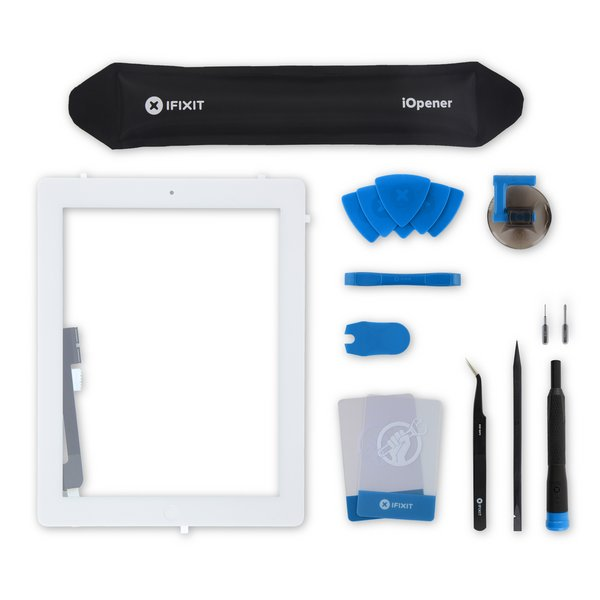iPad 4 Screen Digitizer Assembly / All-New / Fix Kit / White