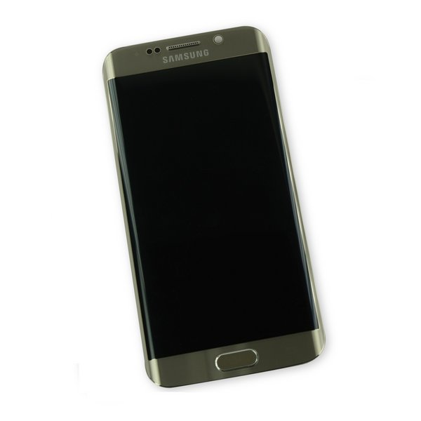 Galaxy S6 Edge Screen and Digitizer Assembly (GSM) / Gold / A-Stock