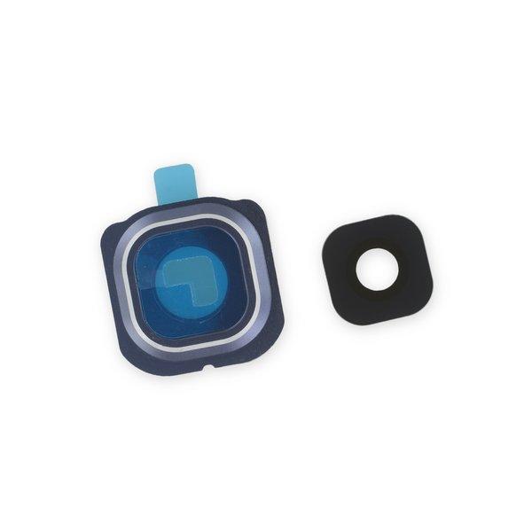 Galaxy S6 Edge Rear Camera Bezel & Lens Cover / New / Blue