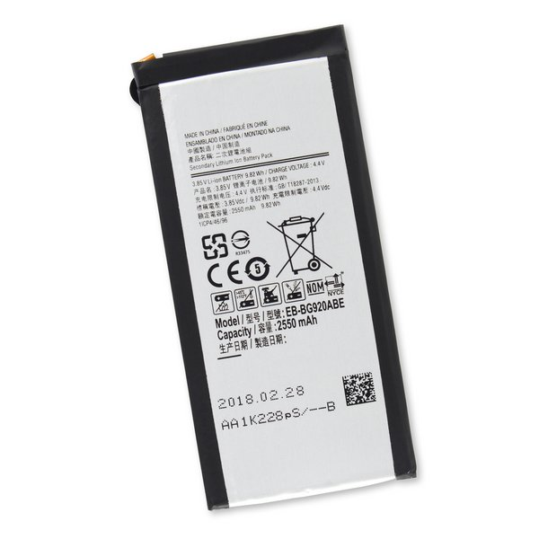 Galaxy S6 Replacement Battery / New / Part Only