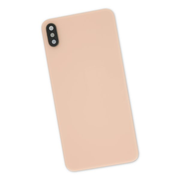 iPhone XS Max Aftermarket Blank Rear Glass Panel with Lens Cover / Gold