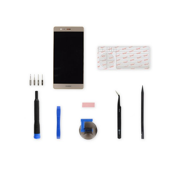 Huawei P9 Plus Screen / Gold / Fix Kit
