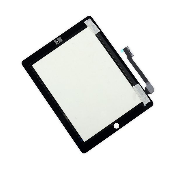 iPad 3/4 Front Glass/Digitizer Touch Panel / New / Part Only / Black / Without Adhesive Strips