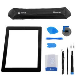iPad 3 Front Glass/Digitizer Touch Panel Full Assembly / All-New / Fix Kit / Black
